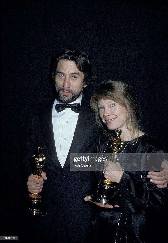 Robert De Niro, winner of Best Actor for 'Raging Bull,' and Sissy Spacek, winner of Best Actress for 'Coal Miner's Daughter'