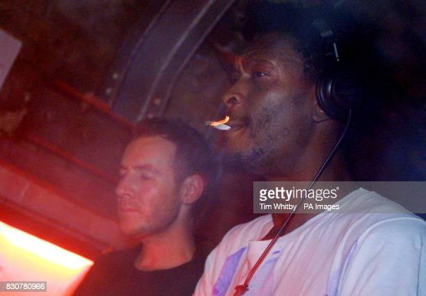 Robert Del Naja AKA 3D and Daddy G of Massive Attack during the 'Crisis in Afghanistan' benefit party at Fabric in East London