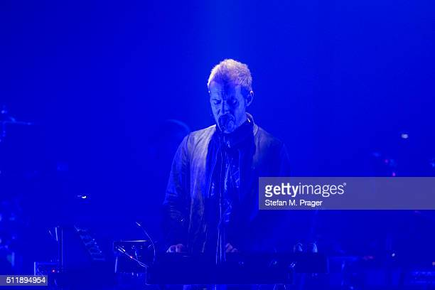 Robert del Naja aka 3D of Massive Attack performs on stage at Tonhalle on February 21 2016 in Munich Germany