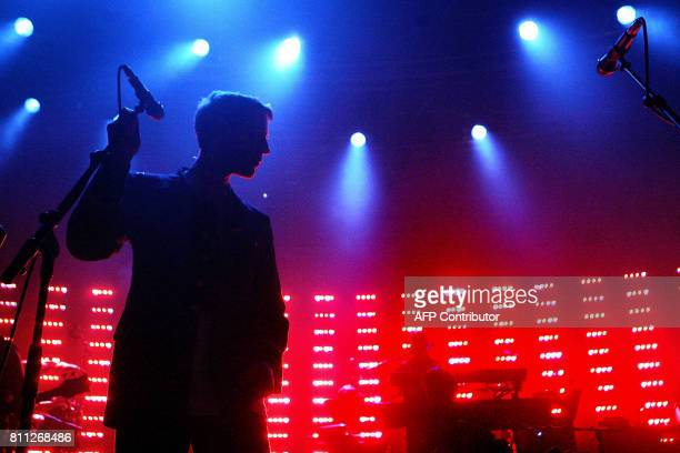 Robert Del Naja alias 3D from the British band Massive Attack performs in the Stravinski Auditorium during the 40th Montreux Jazz festival late 04...