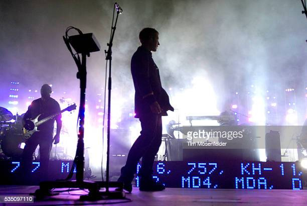 Robert Del Naja and Massive Attack perform in support of the bands 'Collected' release at the Greek Theater in Berkeley California
