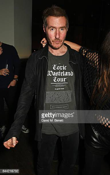 Robert Del Naja attends the Massive Attack after party at 100 Wardour St following their performance at the Barclaycard British Summer Time Festival...