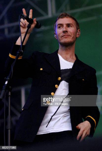 Robert del Naja of Massive Attack performs at the O2 Wireless Festival in Hyde Park central London
