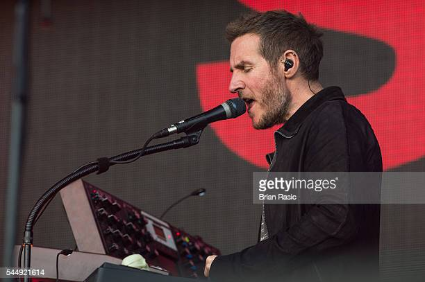 Robert Del Naja of Massive Attack performs on stage during day one of Barclaycard Presents British Summer Time Hyde Park on July 1 2016 in London...