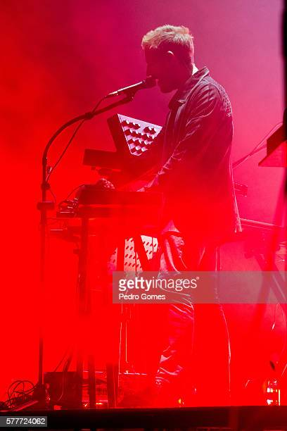 Robert Del Naja of Massive Attack performs on the main stage at Super Bock Super Rock festival on July 15 2016 in Lisbon Portugal