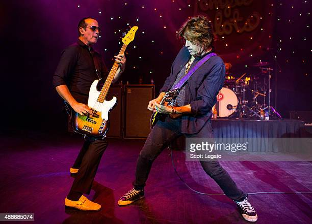 Robert DeLeo and Dean DeLeo of Stone Temple Pilots performs at The Fillmore Detroit on September 16 2015 in Detroit Michigan