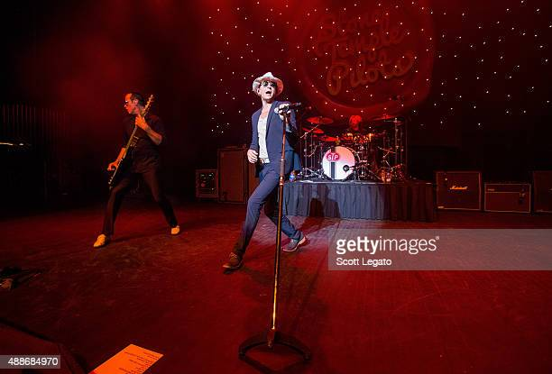 Robert DeLeo Chester Bennington and Eric Kretz of Stone Temple Pilots performs at The Fillmore Detroit on September 16 2015 in Detroit Michigan