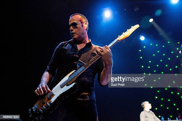 Robert DeLeo of Stone Temple Pilots performs at Paramount Theatre on April 8 2015 in Seattle Washington