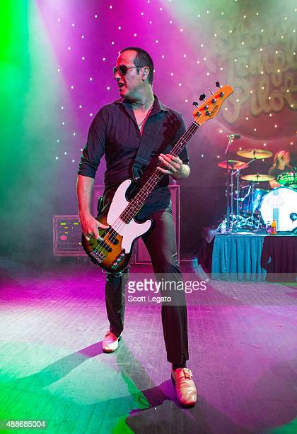 Robert DeLeo of Stone Temple Pilots performs at The Fillmore Detroit on September 16 2015 in Detroit Michigan