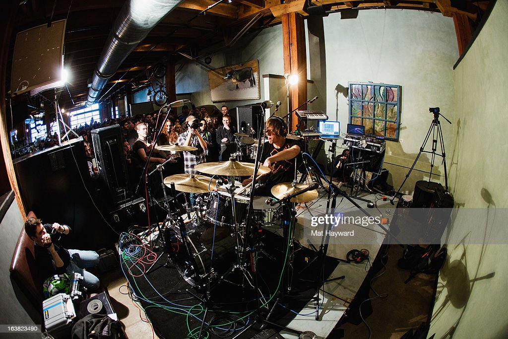Robert DeLong performs an End Session for 107.7 The End at Elysian Fields on March 16, 2013 in Seattle, Washington.