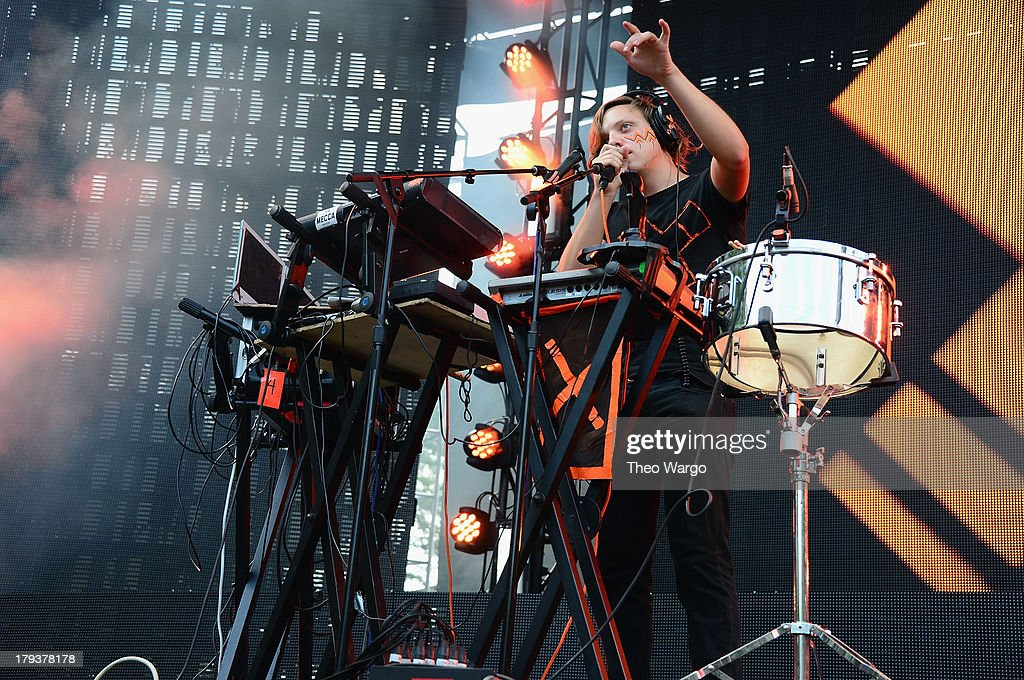 Robert DeLong performs during the 2013 Budweiser Made In America Festival at Benjamin Franklin Parkway on September 1, 2013 in Philadelphia, Pennsylvania.
