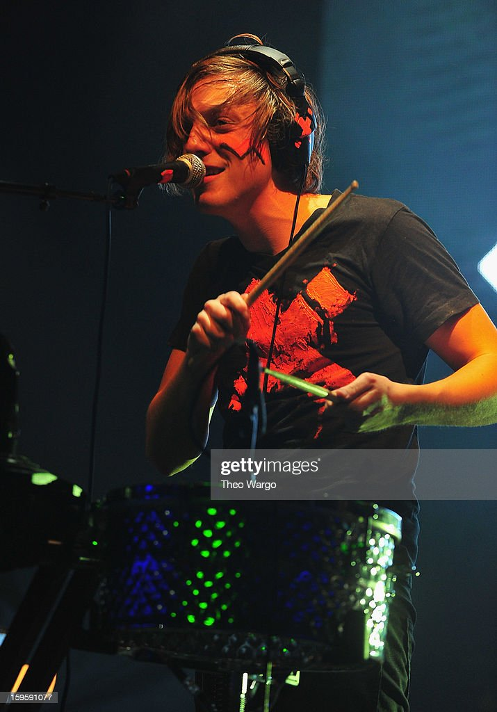 Robert Delong performs during the 2013 MTV Artist To Watch Concert at Highline Ballroom on January 16, 2013 in New York City.