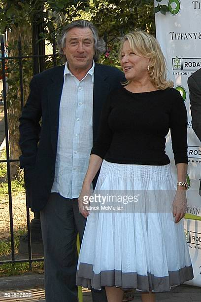 Robert DeNiro and Bette Midler attend Bette Midler's New York Restoration Project's 4th Annual Spring Picnic at Thomas Jefferson Park on June 14 2005...