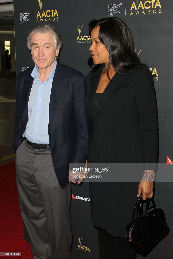 Robert DeNiro and <a gi-track='captionPersonalityLinkClicked' href=/galleries/search?phrase=Grace+Hightower&family=editorial&specificpeople=211382 ng-click='$event.stopPropagation()'>Grace Hightower</a> attend the 2nd AACTA International Awards at Soho House on January 26, 2013 in West Hollywood, California.