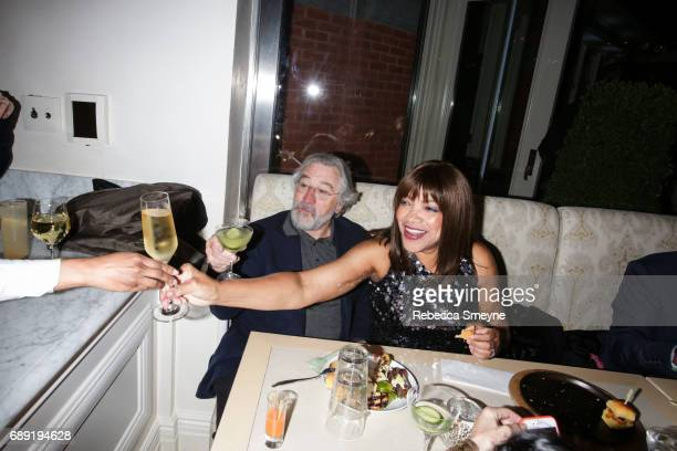 Robert DeNiro and Grace Hightower attend the afterparty for the opening night of the 2017 Tribeca Film Festival World Premiere of 'Clive Davis The...