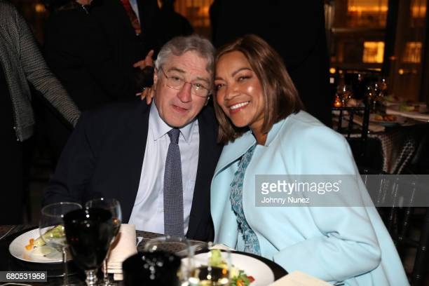 Robert Deniro and Grace Hightower during the 44th Chaplin Award Gala Dinner at David H Koch Theater at Lincoln Center on May 8 2017 in New York City