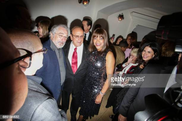 Robert DeNiro Clive Davis and Grace Hightower attend the afterparty for the opening night of the 2017 Tribeca Film Festival World Premiere of 'Clive...
