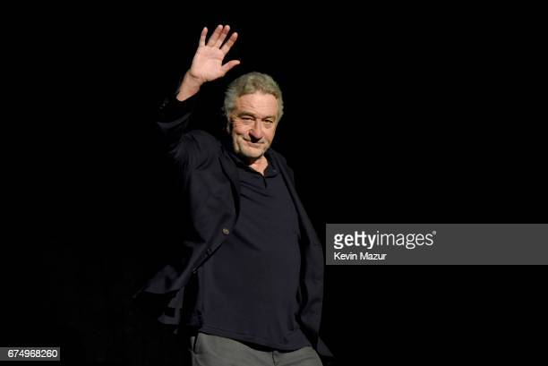 Robert DeNiro speaks onstage during the panel for 'The Godfather' 45th Anniversary Screening during 2017 Tribeca Film Festival closing night at Radio...
