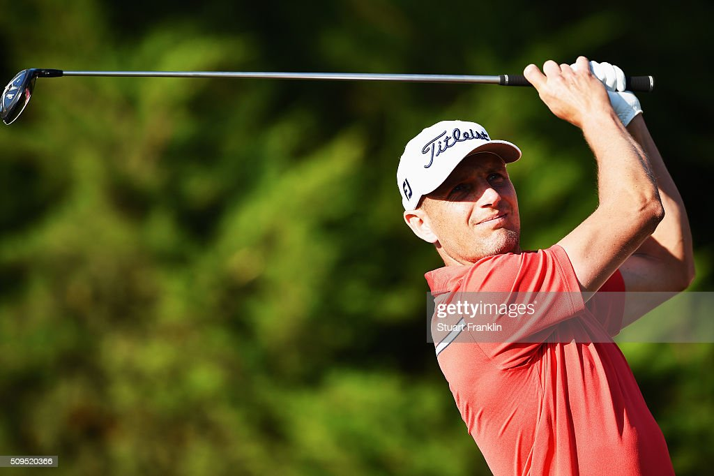 Robert Dinwidde of England plays a shot during the first round of the Tshwane Open at Pretoria Country Club on February 11, 2016 in Pretoria, South Africa.