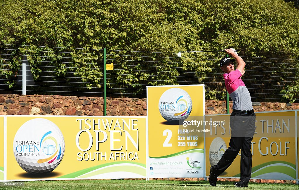Robert Dinwidde of England plays a shot during the third round of the Tshwane Open at Pretoria Country Club on February 13, 2016 in Pretoria, South Africa.