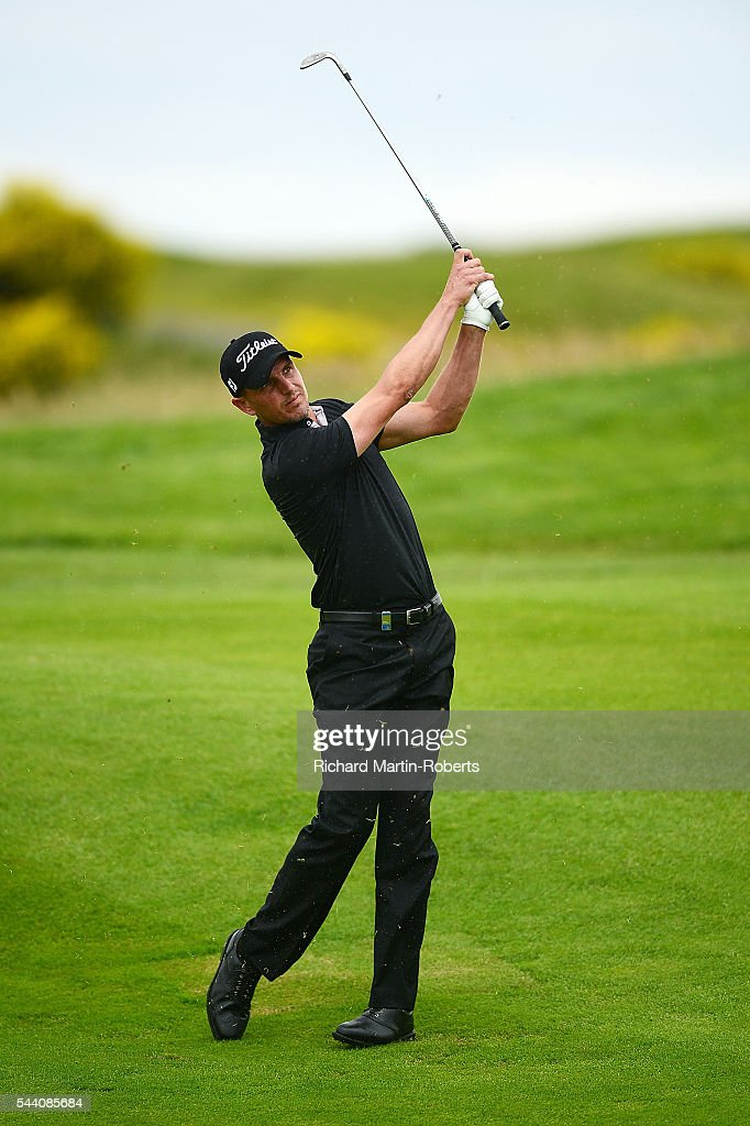 Robert Dinwiddie of England hits an approach shot during the second round of the 100th Open de France at Le Golf National on July 1, 2016 in Paris, France.