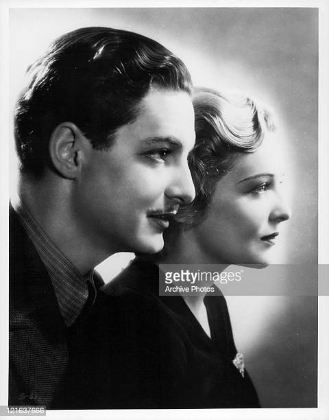 Robert Donat and Madeleine Carroll in publicity portrait for the film 'The 39 Steps' 1935