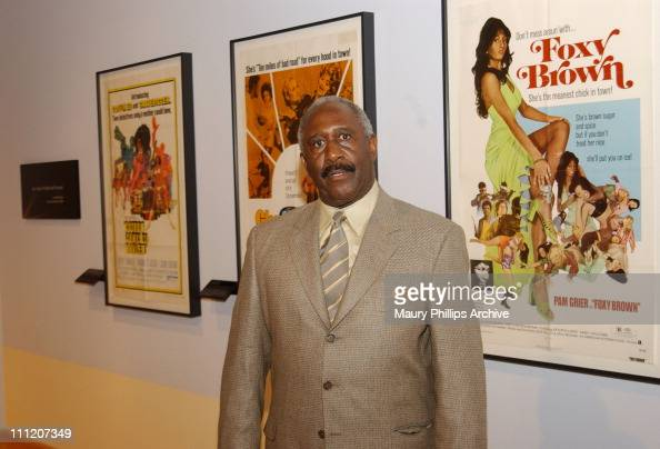 Robert DoQui during African American Movie Posters Exhibition at California African American Museum in Los Angeles California United States