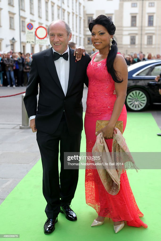 Robert Dornhelm and Kristin Lewis attends the AIDS Solidarity Gala 2014 at Hofburg Vienna on May 31, 2014 in Vienna, Austria.