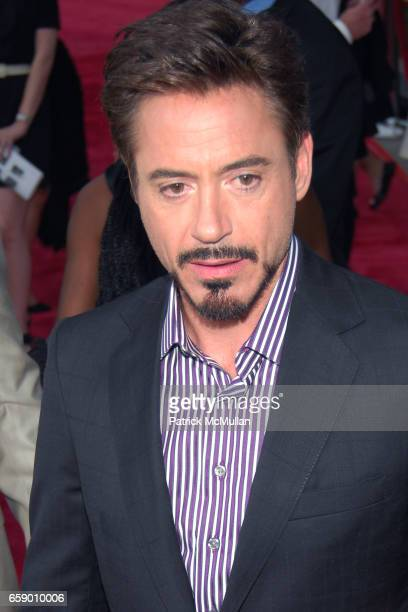 Robert Downey and Jr attend LOS ANGELES PREMIERE OF 'THE SOLOIST' at PARAMOUNT THEATRE on April 20 2009 in HOLLYWOOD CA