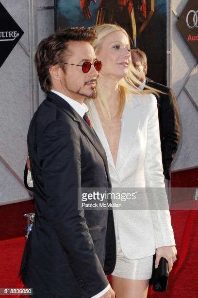 Robert Downey Jr and Gwyneth Paltrow attend World Premiers of Paramount Pictures IRON MAN 2 at El Capitan Theatre on April 26 2010 in Hollywood...