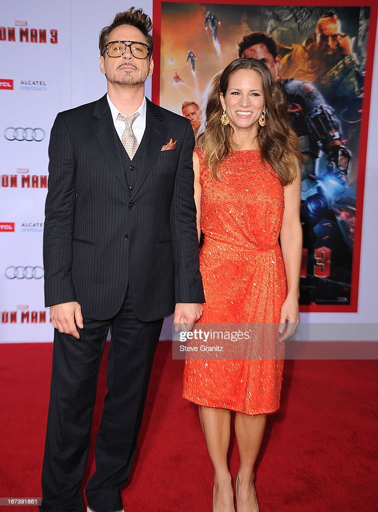 Robert Downey Jr. and Susan Downey arrives at the 'Iron Man 3' - Los Angeles Premiere at the El Capitan Theatre on April 24, 2013 in Hollywood, California.