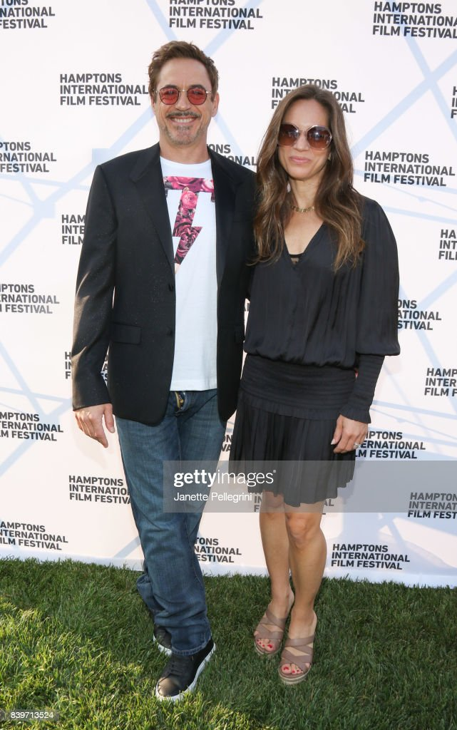 Robert Downey Jr. and Susan Downey attend the Hamptons International Film Festival SummerDocs Series Screening of ICARUS on August 26, 2017 in East Hampton, New York.