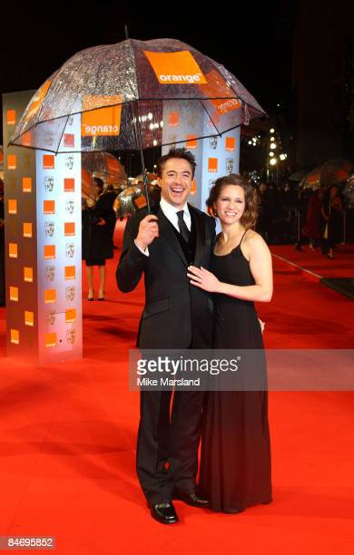 Robert Downey Jr and Susan Downey attend The Orange British Academy Film Awards 2009 at the Royal Opera House on February 8th 2009 in London England