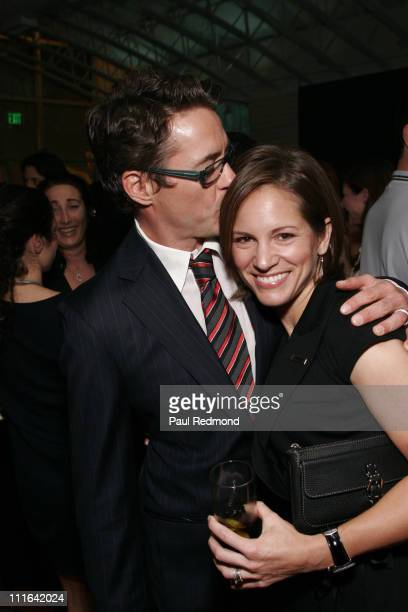 Robert Downey Jr and Susan Downey during The 2006 Hollywood Reporter's Next Generation Party Inside at Sunset Beach in Hollywood California United...