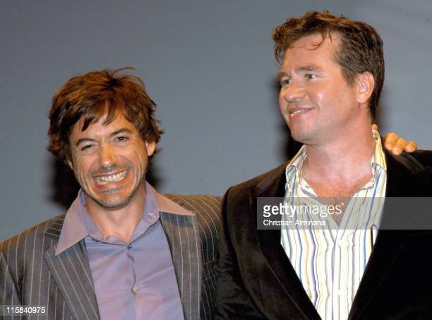 Robert Downey Jr and Val Kilmer during 31st American Film Festival of Deauville 'Kiss Kiss Bang Bang' Premiere at CID in Deauville France