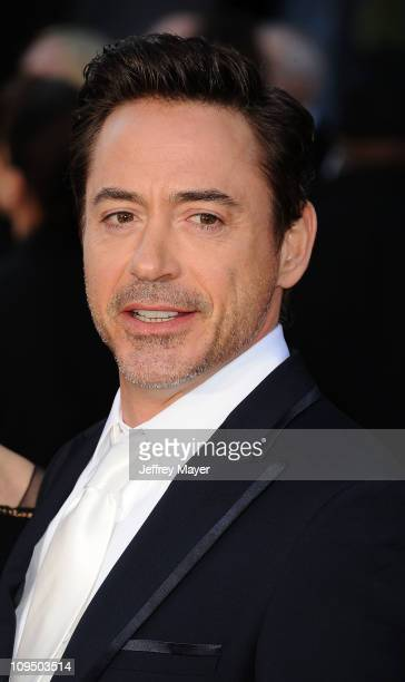 Robert Downey Jr arrives at the 83rd Annual Academy Awards held at the Kodak Theatre on February 27 2011 in Hollywood California