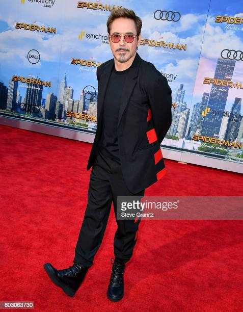 Robert Downey Jr arrives at the Premiere Of Columbia Pictures' 'SpiderMan Homecoming' at TCL Chinese Theatre on June 28 2017 in Hollywood California
