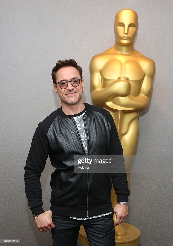 Robert Downey Jr. arrives for an official Academy Members Screening of 'The Judge' hosted by The Academy Of Motion Picture Arts And Sciences at the Academy Theater at Lighthouse International on October 7, 2014 in New York City.