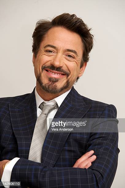 Robert Downey Jr at 'Marvel's The Avengers' Press Conference at the Four Seasons Hotel on April 13 2012 in Beverly Hills California