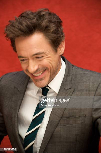 Robert Downey Jr at the 'Sherlock Holmes' press conference at the Montage Hotel on December 1 2009 in Los Angeles California NO