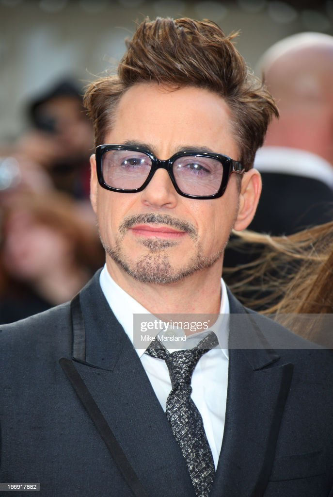 Robert Downey Jr attends a special screening of 'Iron Man 3' at Odeon Leicester Square on April 18, 2013 in London, England.
