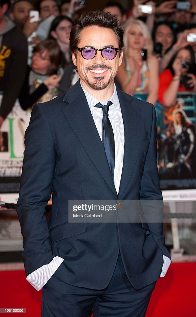 Robert Downey Jr Attends Marvel Avengers Assemble European Premiere At Vue Westfield On April 19, 2012 In London.