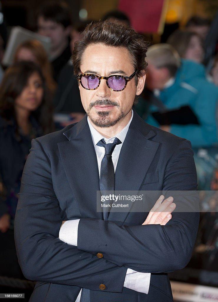 Robert Downey Jr Attends Marvel Avengers Assemble European Premiere At Vue Westfield On April 19, 2012 In London.