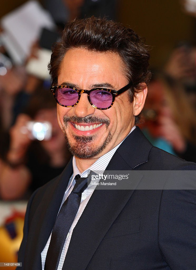 Robert Downey Jr attends the European premiere of Marvel Avengers Assemble at Vue West End on April 19, 2012 in London, England.