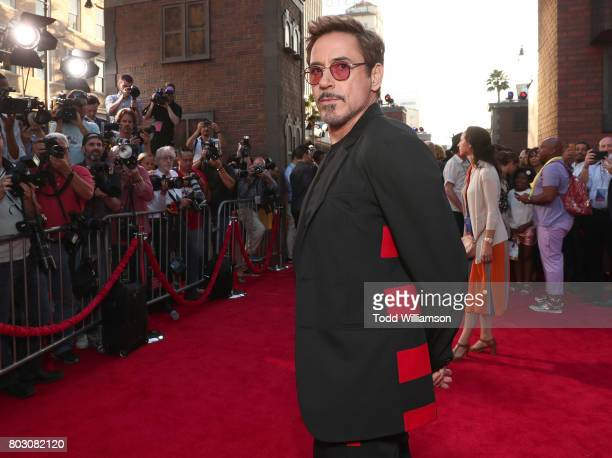 Robert Downey Jr attends the premiere of Columbia Pictures' 'SpiderMan Homecoming' at TCL Chinese Theatre on June 28 2017 in Hollywood California