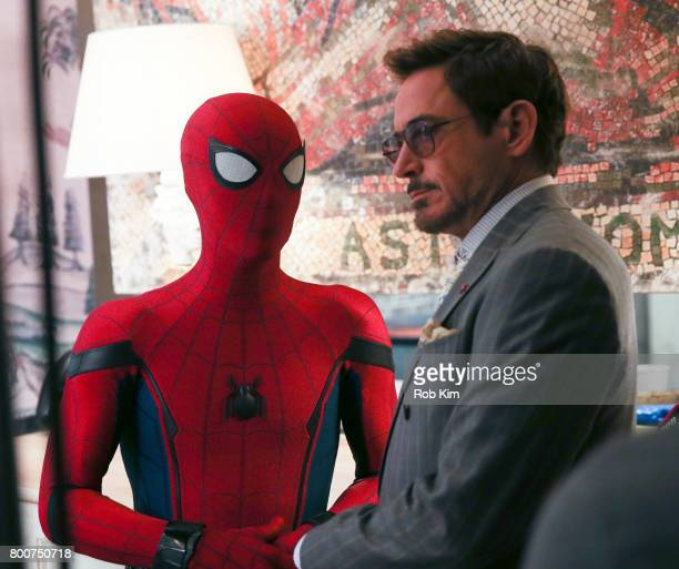 Robert Downey Jr attends the 'SpiderMan Homecoming' Photo Call at the Whitby Hotel on June 25 2017 in New York City
