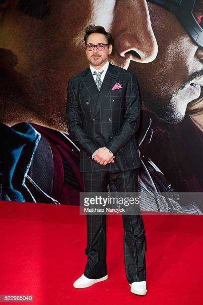 Robert Downey Jr attends the 'The First Avenger Civil War' Berlin Premiere at Sony Centre on April 21 2016 in Berlin Germany