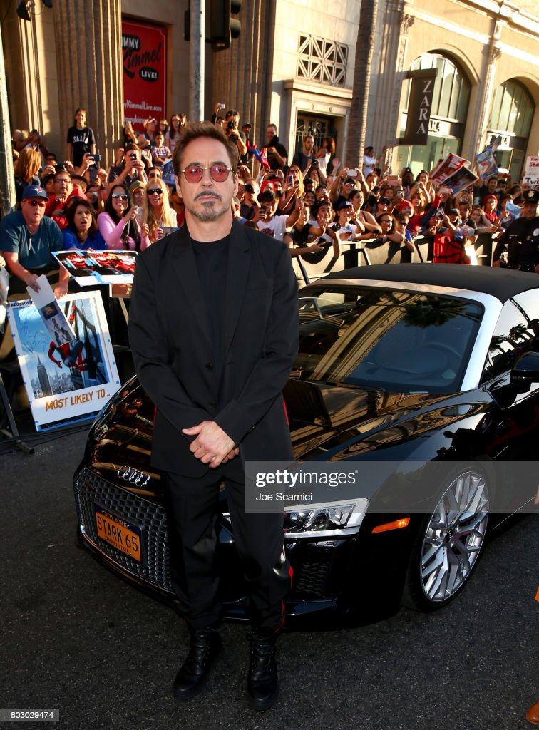 Robert Downey Jr. attends the World Premiere of 'Spider-Man: Homecoming' hosted by Audi at TCL Chinese Theatre on June 28, 2017 in Hollywood, California.
