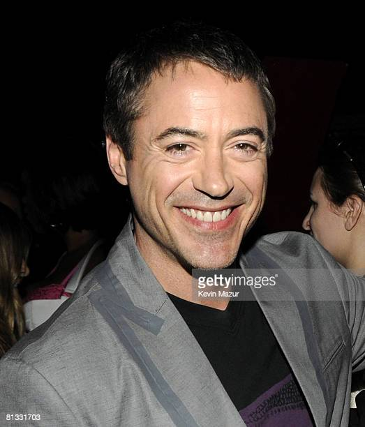 Robert Downey Jr backstage at the 2008 MTV Movie Awards on June 1 2008 at the Gibson Amphitheatre in Universal City California