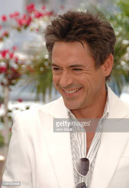 Robert Downey Jr during 2006 Cannes Film Festival 'A Scanner Darkly' Photocall at Palais des Festival Terrace in Cannes France
